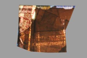 Deborah S. Phillips, o.T., 2013 Unikate Zerschnitte eines Abzugs einer Diacollage (jeweils 1 von ca. 19 Stück) Formate unregelmäßig zwischen DIN A 6 und DIN A 4