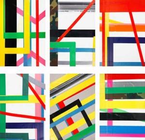 """Jahresgabe 2015, CUTOUT: """"Genius Loci- Rekonstruktion eines Raumes"""" von Karl Menzen und René Moritz, Klebebänder auf Pappe, 21 x 14,8 cm, Serie 48 Stüc"""