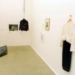 Birgit Szepanski, Ausstellungansicht Video, Installation, Fotografie, Tasche, 2016, Foto: Birgit Szepanski