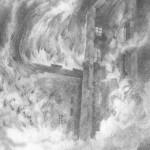 """Cathérine Kuebel, """"Morusstraße 1944"""", 2016, 27 x 22 cm, Bleistift auf Papier, Rahmen aus der Reihe RAUCH (Fiktion A), 2016, Foto: Cathérine Kuebel"""