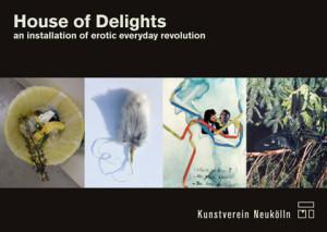 Postkarte 'house_of_delights', Abbildung: Collagen und Fotos von Niina Lehtonen Braun und Milla Martikainen