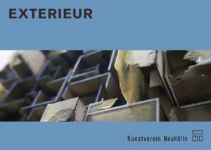Postkarte Exterieur, Vorderseite: Hendrik Czakainski, o. T., 2012, Hartfaser, Karton, Epoxidharz, Farbe, 45 x 75 cm (Detail)