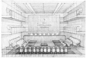 Ángela Lambea, Das Kapitalismustribunal – Entwurf zur Einrichtung des Gerichtshofs, © Haus Bartleby