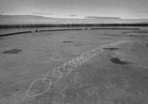 """Fotografie der Zeichnung """"16°7'E 69°22'N 24.06.10 09.22-12.27 UTC+2"""""""
