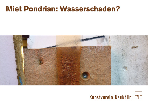 """Postkarte """"Miet Pondrian: Wasserschaden?"""" von Kartenrecht"""