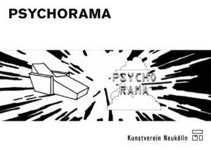 """Postkarte zur Ausstellung """"PSYCHORAMA"""""""
