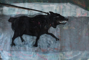 Ismail Karayakupoglu, O.T. eins, 2014, Acryl auf Leinwand, 180 x 160 cm Foto: Ismail Karayakupoglu