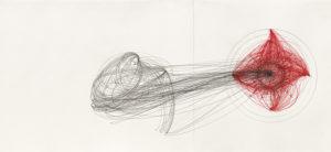 """Künstlerin: Anne Brannys, """"Dissoziation"""" (Symposion/Lem), 2019, Fineliner, Graphit u. Tusche auf Papier"""