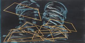 """Künstlerin: Madeleine Heublein, """"Die Siebente Reise"""", 2019, Monotypie, Tiefdruck, Bütten"""
