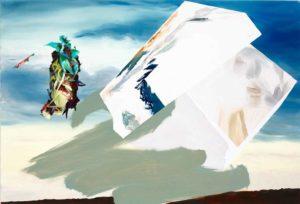 "Maja Rohwetter, ""agglomerated disbelief"", 2013, Öl auf Leinwand, 110 x 100 cm, Foto: © Herrmann Feldhaus"