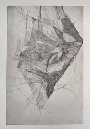 "Aneh Ondare, ""raw sleep"", 2019, Radierung"
