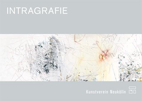 """Postkarte """"Intragrafie"""", Abbildung: Montage aus zwei Zeichnungen der Künstler*innen"""