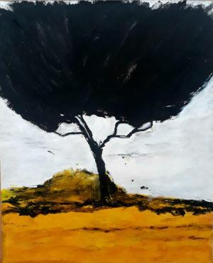 """Ursula Antesberger, """"ohne Titel"""", 2020, Acryl auf Papier, 121 x 98 cm, Foto: Ursula Antesberger"""