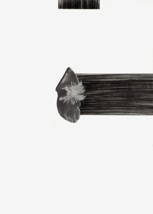 """Natascha Frioud, """"Ohne Titel"""", 2020, Collage & Tinte auf Papier, 29,7 x 42 cm"""